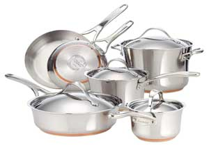 Anolon Nouvelle Stainless Steel Cookware Set