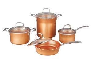 Concord Ceramic Coated Copper Cookware Sets 8 Pieces