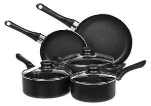 Cook N Home 8-Piece Nonstick Heavy Gauge Cookware Set