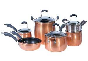 Epicurious Copper Cookware Sets -11 Pieces