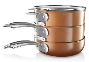 Gotham Steel Complete 15 Piece Space Saving Ultra Nonstick Cookware Set