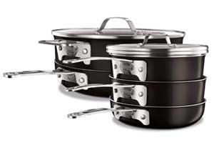 Gotham Steel STACKMASTER Pots Stackable Cookware Set