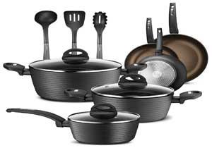 NutriChef 12-Piece Nonstick Kitchen Cookware Set
