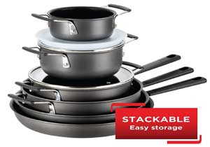 T-fal All-In-One Hard Anodized Cookware Set
