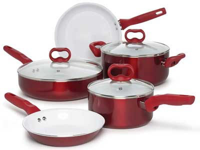 Ecolution Bliss Ceramic Easy Clean Pots and Pans