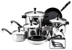 Farberware Classic Stainless Steel Induction Cookware Sets
