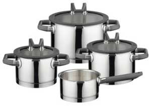 HOMI CHEF 10-Piece Nickel Free Stainless Steel Cookware