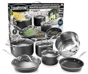 GRANITESTONE 10 Piece Nonstick Cookware Set