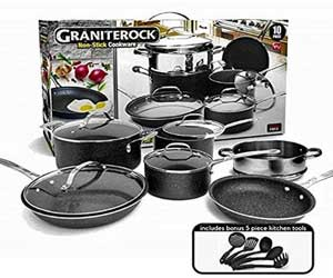 GRANITESTONE 10 Piece Nonstick Ultra Durable Cookware