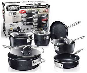 GRANITESTONE Stack Master 10 Piece Cookware Set
