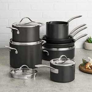 Kirkland Signature  Hard Anodized Cookware Set 12-piece